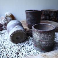 安西桂 〝土の子″   茶 ツツ  3号  no.60904-1
