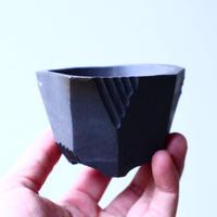 N/OH     澪標   盆栽鉢〝リッチブラック〟(縁フラットタイプ )  XS  no.120108