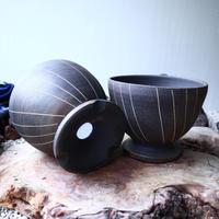 【A×T】by MENOSYAMA〝IZA〟B/W  Line  bowl L
