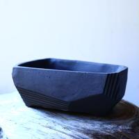 N/OH     澪標   盆栽鉢〝リッチブラック〟(縁フラットタイプ)  S  no.121545