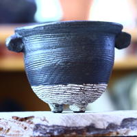 joint pot   安西桂   ×   安西岳郎   親子鉢〝土の子″  L ミミツキ  no.82393