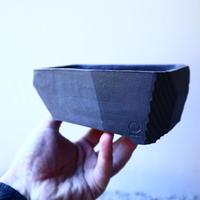 N/OH     澪標   盆栽鉢〝リッチブラック〟(縁フラットタイプ)  S  no.121546