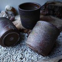 安西桂 〝土の子″   茶 ツツ  4号  no.60903