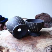 【A×T】by MENOSYAMA〝IZA〟B/W  Line  bowl S
