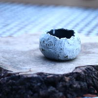 N/OH     石コロ鉢  (ブルーグレー釉) 2号   no.121379