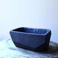 N/OH     澪標   盆栽鉢〝リッチブラック〟(縁フラットタイプ)  SS  no.121540