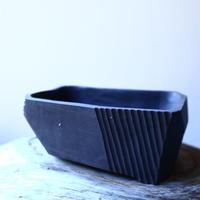 N/OH     澪標   盆栽鉢〝リッチブラック〟(縁フラットタイプ)  S  no.121543