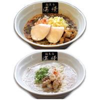 トマトンコツラーメン2食、魚介豚骨ラーメン2食 4食セット