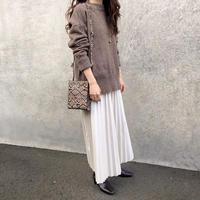 eco leather pleats skirt