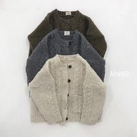 【ご予約】cable  knit cardigan(junior)