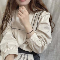 line stitch blouse