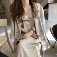 linen  camisole one-piece