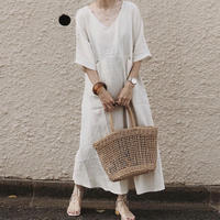 natural linen one-piece