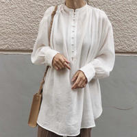 chiffon bandcollar   blouse