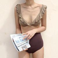 bi-color  high-waist Bikini