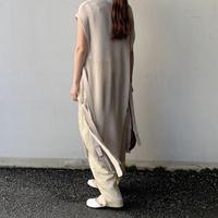 linen touch  long vest