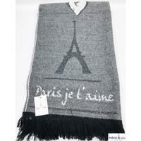 Eiffel Tower Shawl-BK-