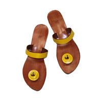 Leather Sandals / yellow