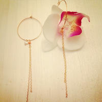 K14GF orchid earrings...❤︎