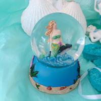 mermaid snow dome