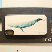 """【 受注販売】 ウッドiphoneケース""""Blue whale """"-各機種対応-"""
