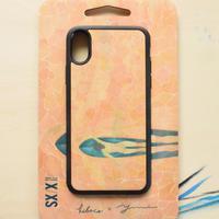 """【先行予約】 ウッドiphoneケース""""salmon pink waves""""-各機種対応-"""