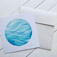 Water planet メッセージカード