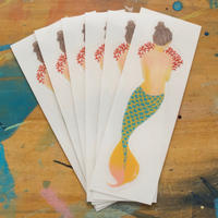 shy mermaid girl sticker