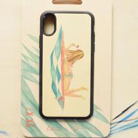 """【 受注販売】 ウッドiphoneケース""""surf girl""""-各機種対応-"""