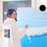 KAGAFURI KAMAKURA(カガフリ カマクラ)MOONLIGHTクジラパーカー(ブラック/ホワイト)