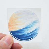 Water Planet sunset ステッカー