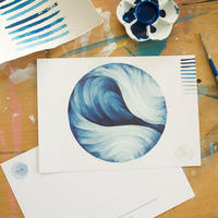 "Large size Post Card  "" Water Ball"""