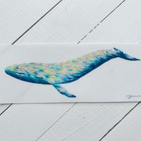 Opal whale sticker