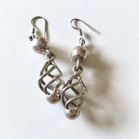 Vintage sterling silver dangle pierced earrings