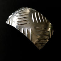 Vintage huge aluminium hair barrette