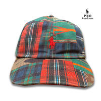 POLO RALPHLAUREN PATCH WORK CAP