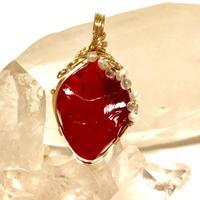 """アンダラクリスタル レッド  """"Crystal Realize™ Jewelry"""" ペンダントトップ"""