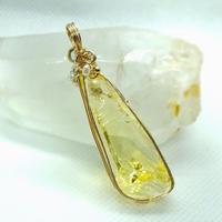 """アンダラクリスタル  イエロー """"Crystal Realize™ Jewelry"""" ペンダントトップ"""