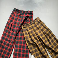THOMAS MAGPIE check tuck pants 2204306