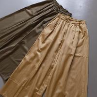 suzuki  takayuki     gathered pants I      khaki