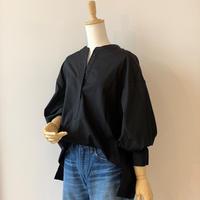 SINME シンメ ボリュームシャツ ブラック S470-1