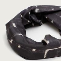 YARN&COPPER   Silk 'Peckham' black ヘッドスカーフ/ミニスカーフ