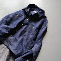 SINME リネンデニムシャツ HF01-1