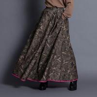THOMAS MAGPIE   zentangle print long skirt【2213602】