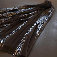 NAKAGAMI 箔ヘリンボーンプリーツスカート charcoal gray×silver N0321A0032