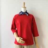 SINME 七分袖カットソー  レッド  S301-RED