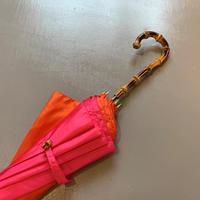 bonbonstore バイカラー長傘(ピンク×オレンジ)