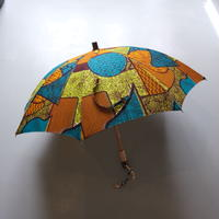 bonbonstore アフリカンバティック長傘(日傘)BON-21014