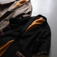 THOMASMGPIE short sleeve coat BLACK ブラック【2213202】