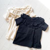 2段フリルTシャツ